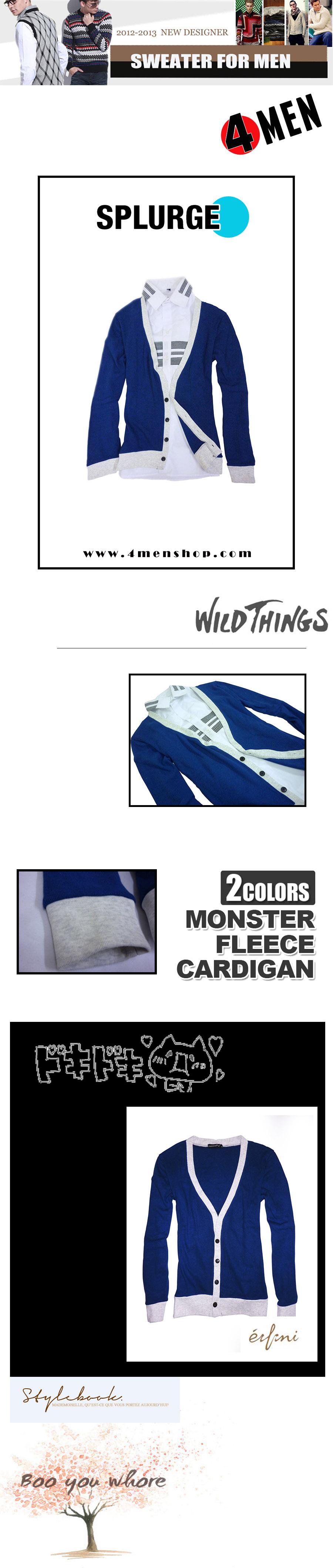 Áo khoác cardigan xanh dương ac057 - 1