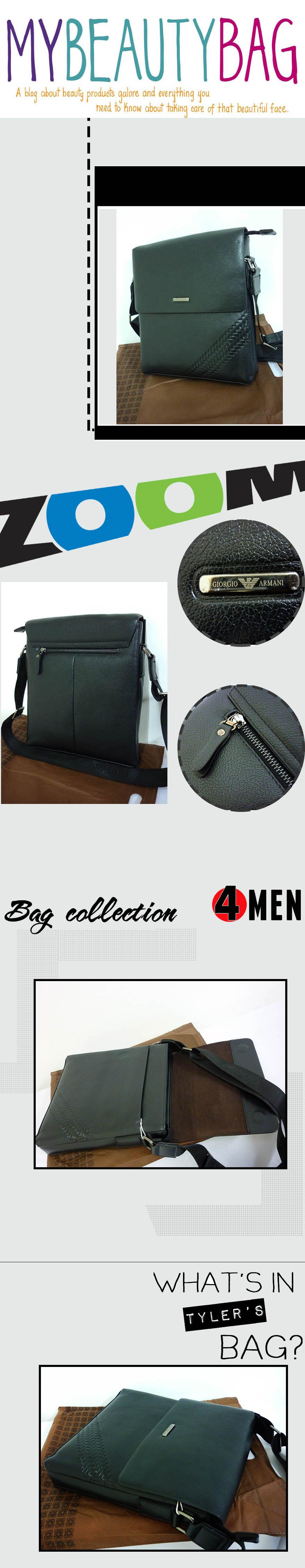 Túi xách da đen armani txf005 - 1