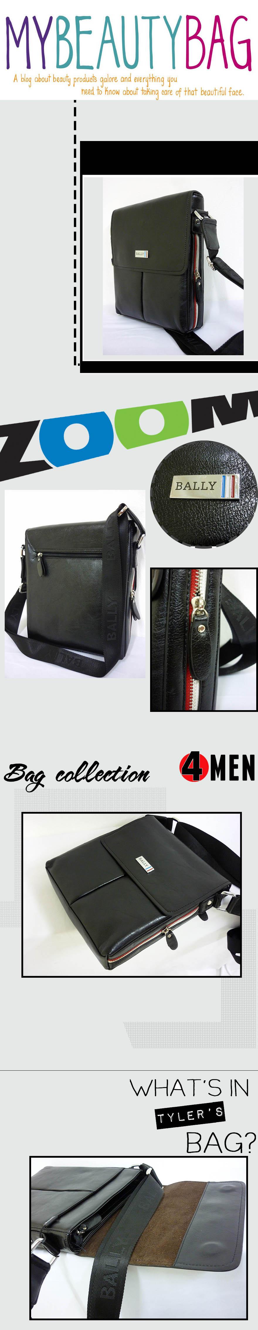 Túi xách da đen bally txf004 - 1
