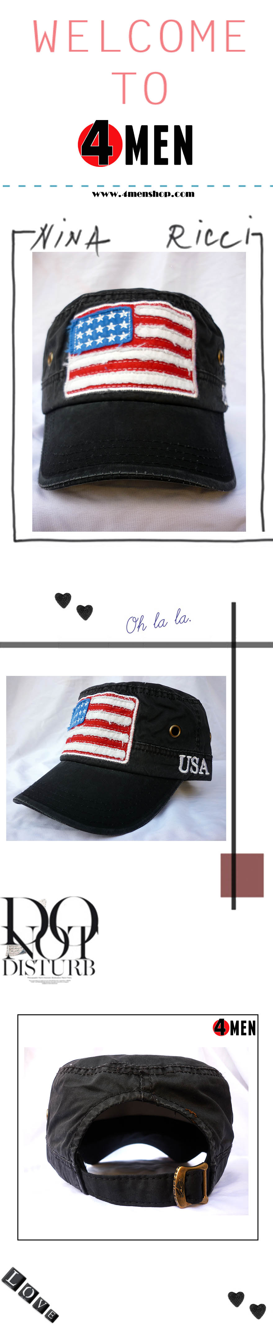 Nón cờ mỹ đen nf037 - 1
