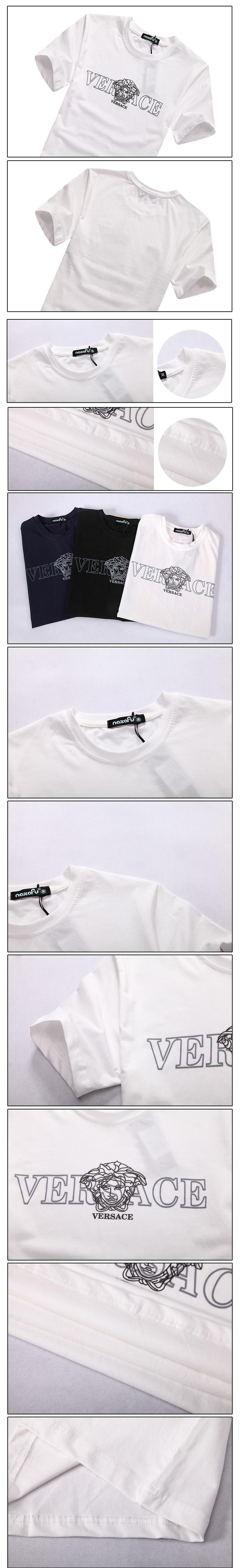 Áo thun cao cấp versace trắng at480 - 1