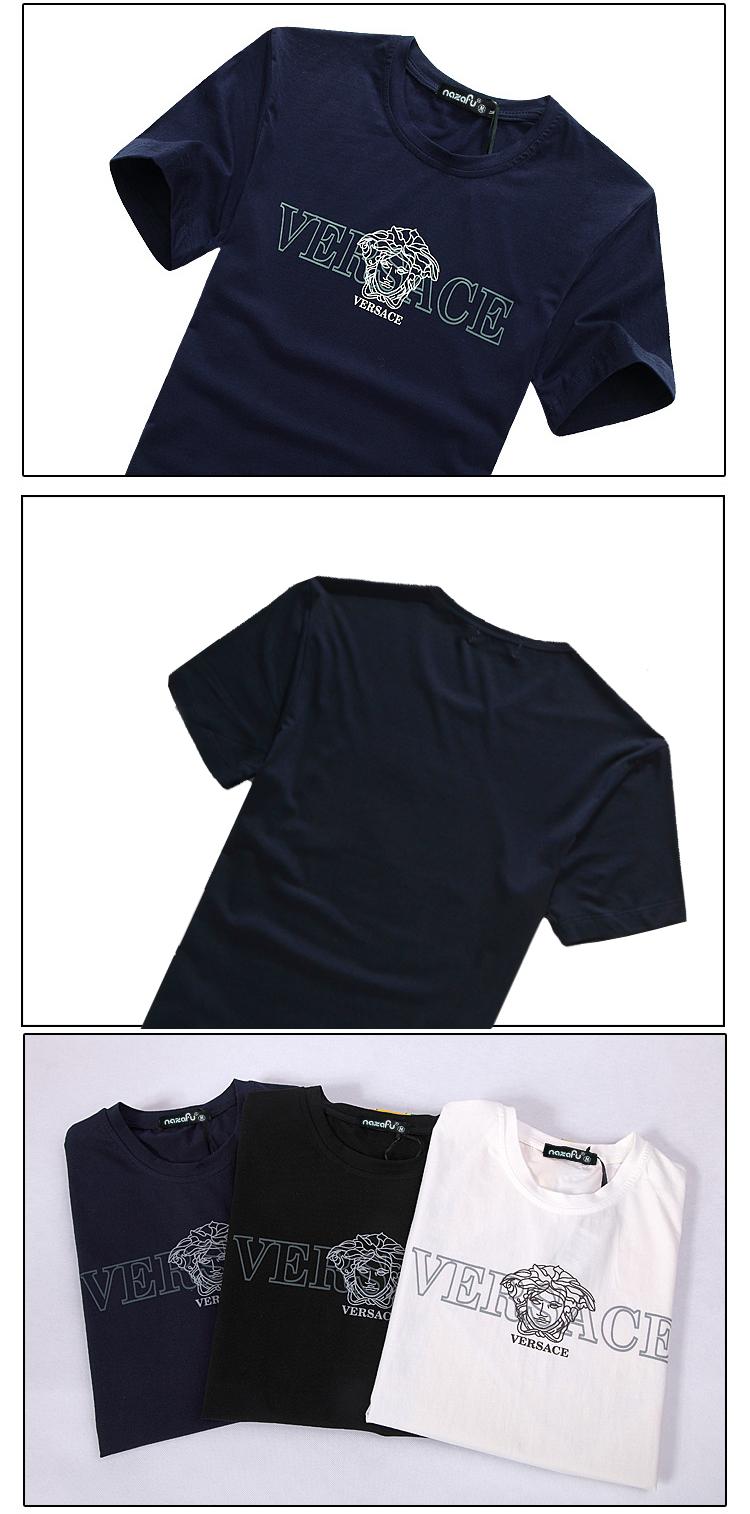 Áo thun cao cấp versace xanh đen at480 - 1