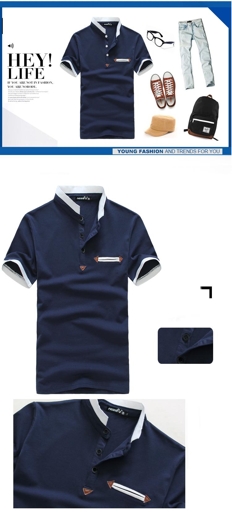 Áo thun cao cấp xanh đen at476 - 1