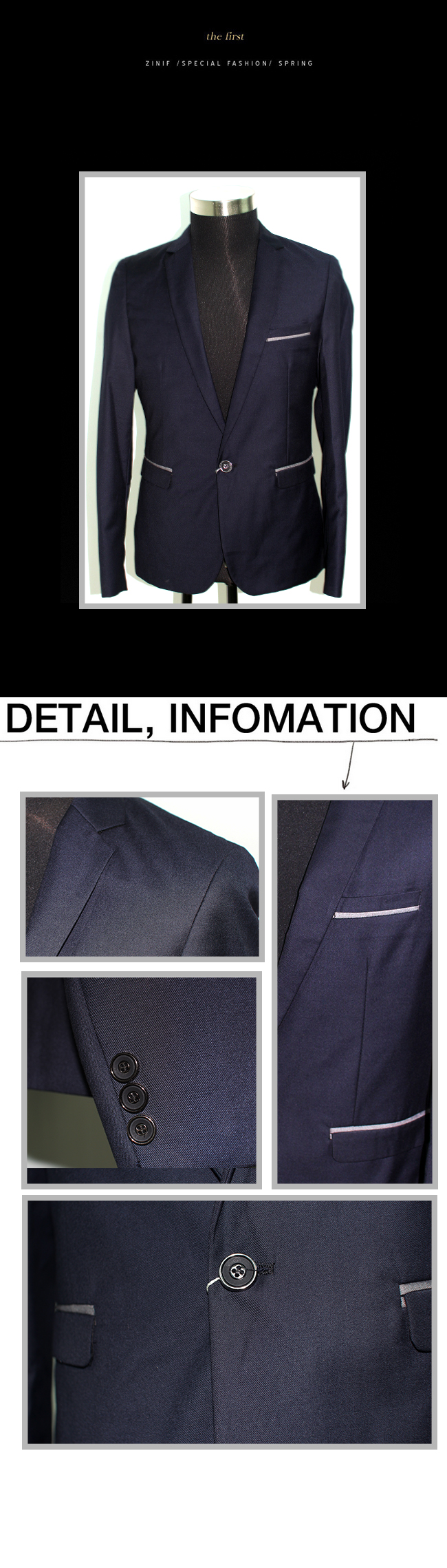 Áo vest cao cấp xanh đen av2l1008 - 1