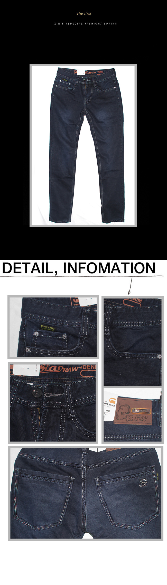 Quần jean ống đứng xanh đen qj1110 - 1