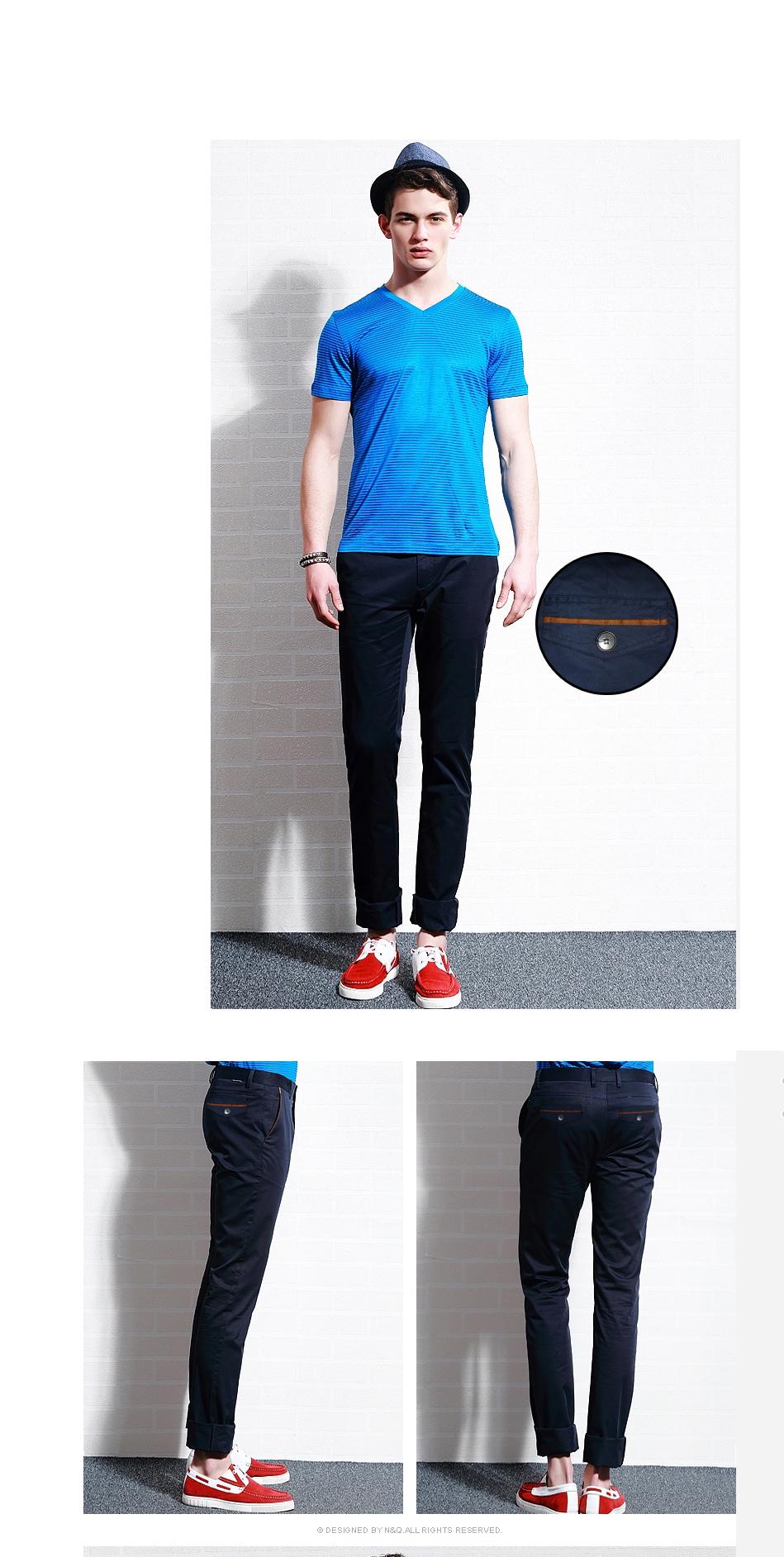 Quần kaki hàn quốc xanh đen qk102 - 1
