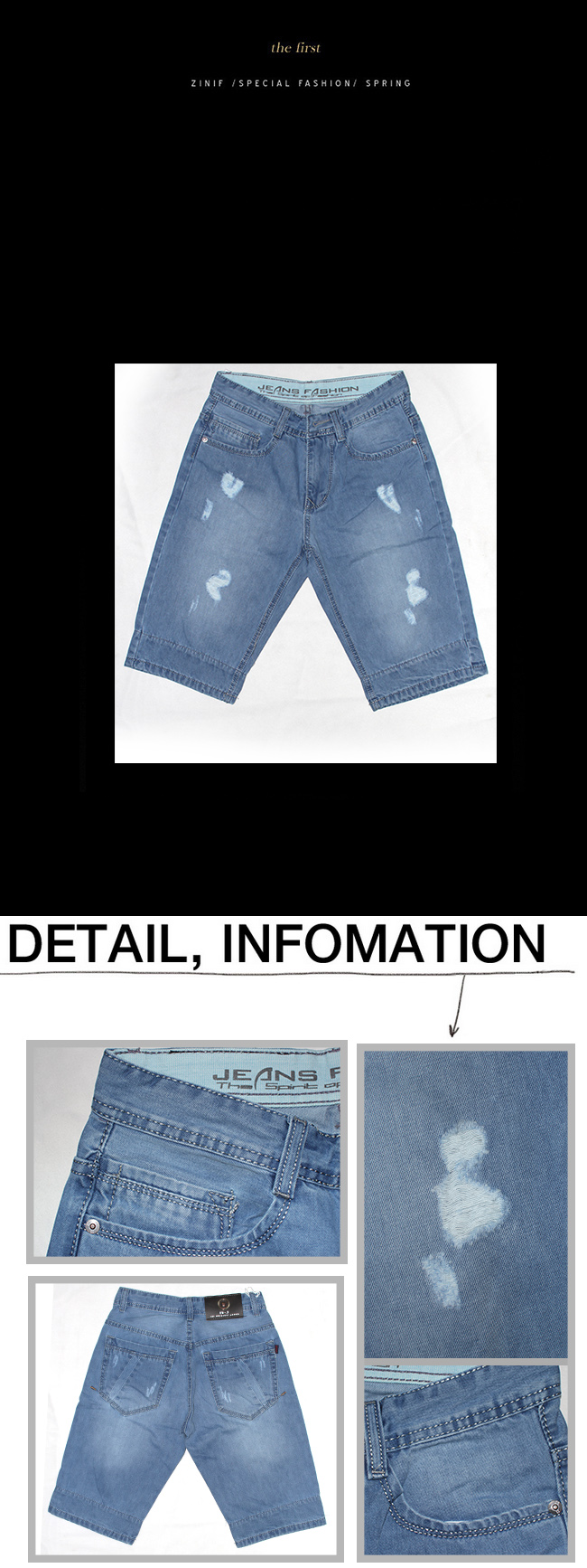 Quần short jeans xanh dương qj1118 - 1