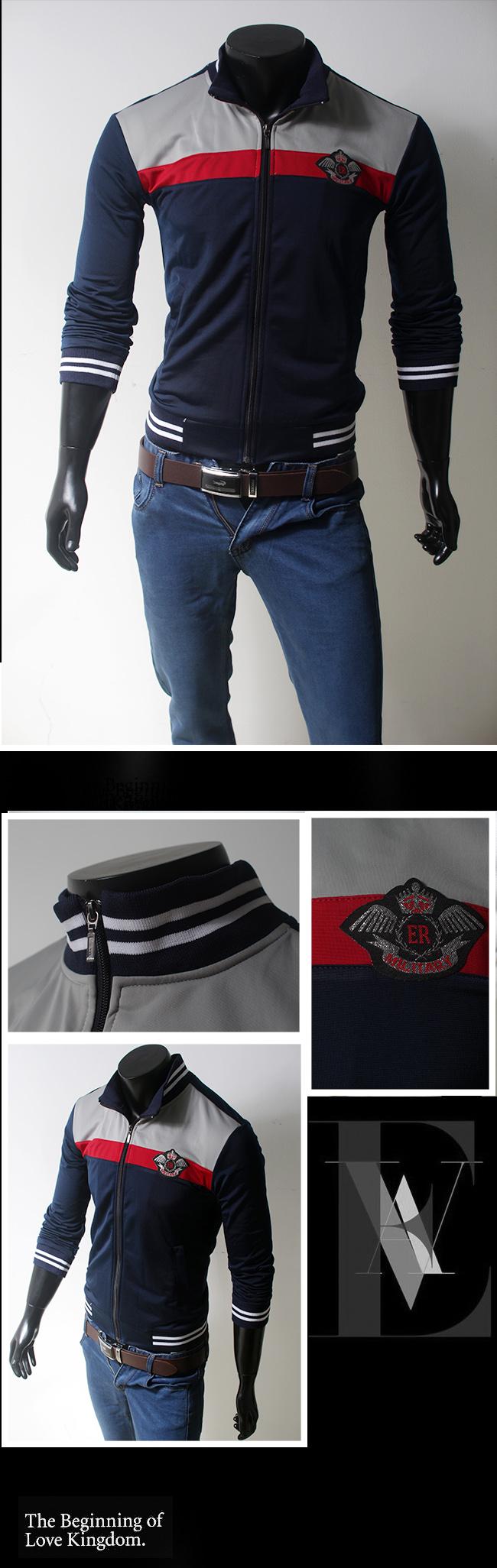 Áo khoác xanh đen ak080 - 1