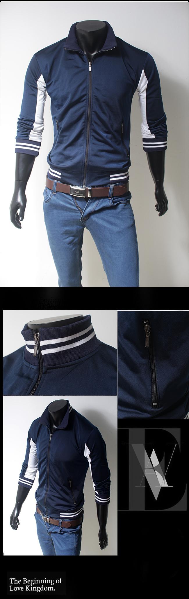 Áo khoác xanh đen ak096 - 1