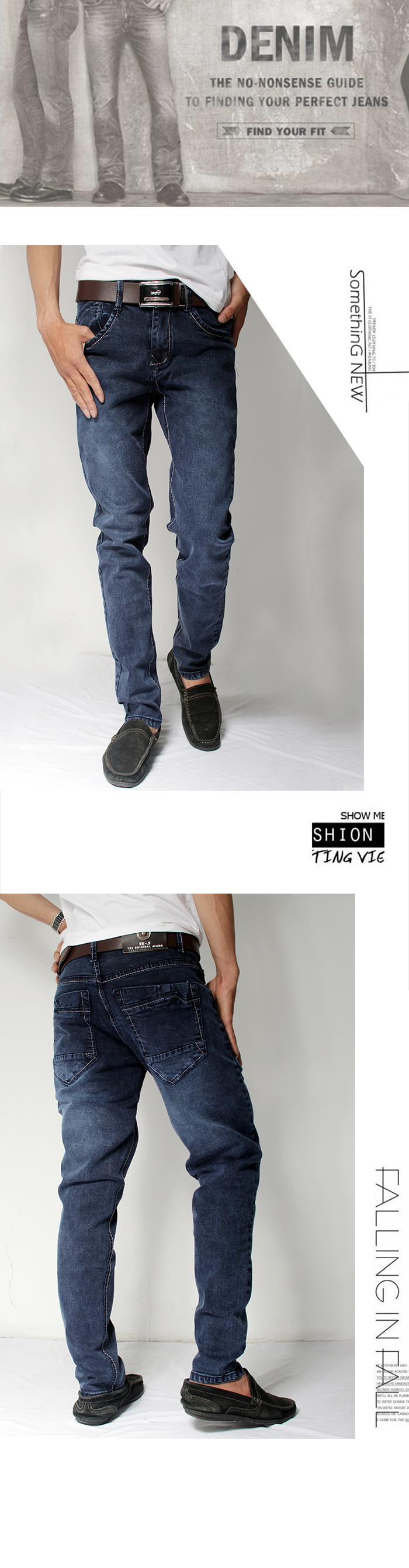 Quần jean xanh đen qj1129 - 1
