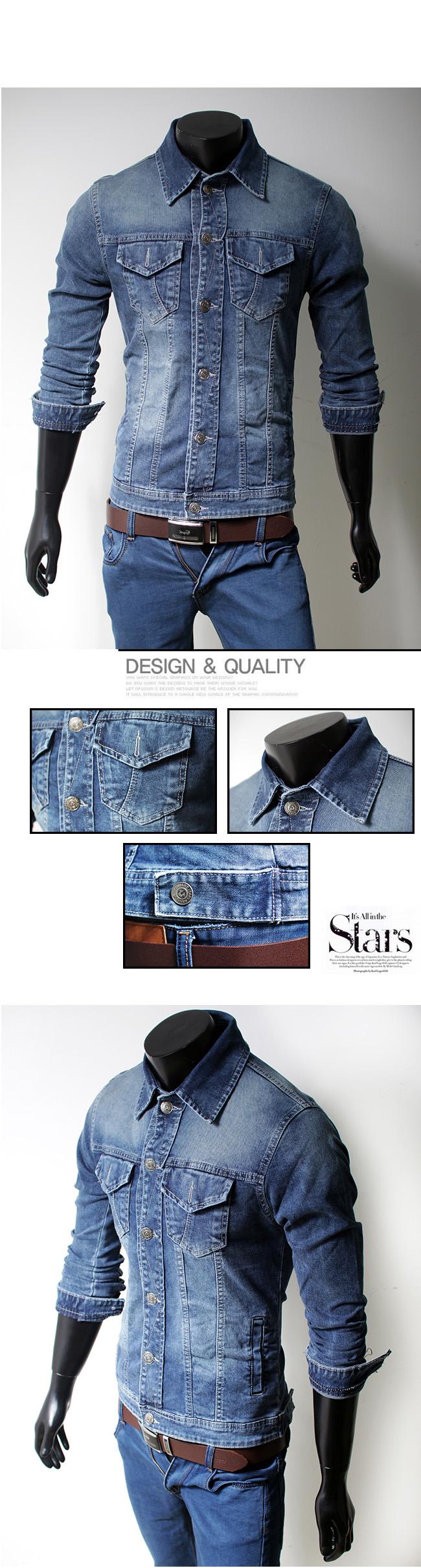 Áo khoác jean xanh dương akj01 - 1
