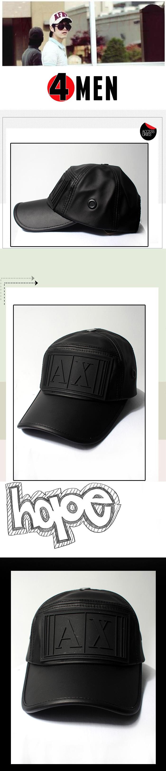Nón da ax đen nf071 - 1