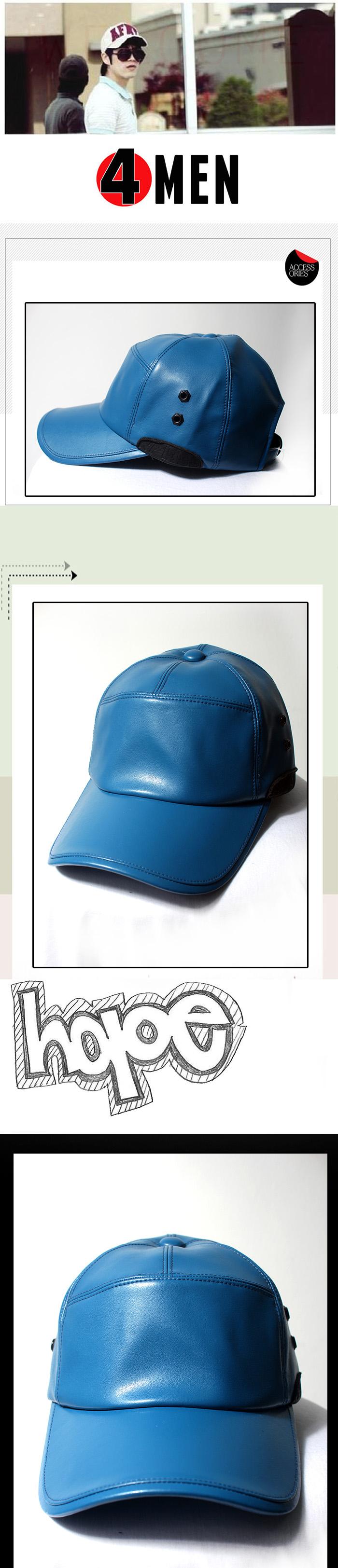 Nón da xanh dương nf065 - 1