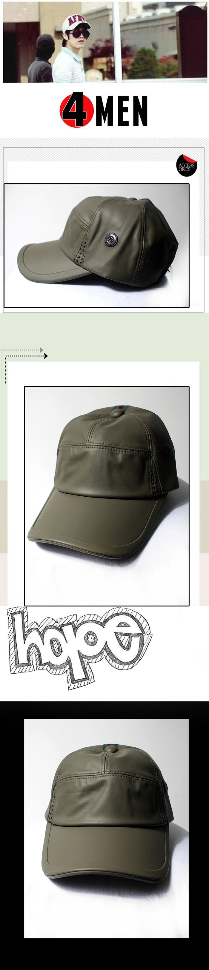 Nón da xanh rêu nf066 - 1