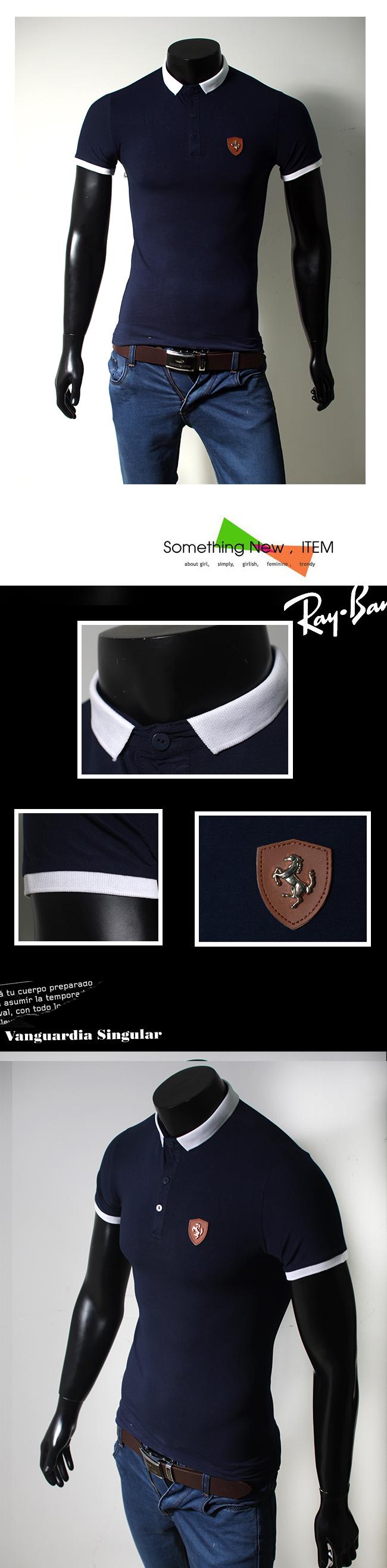 Áo thun cao cấp xanh đen at494 - 1