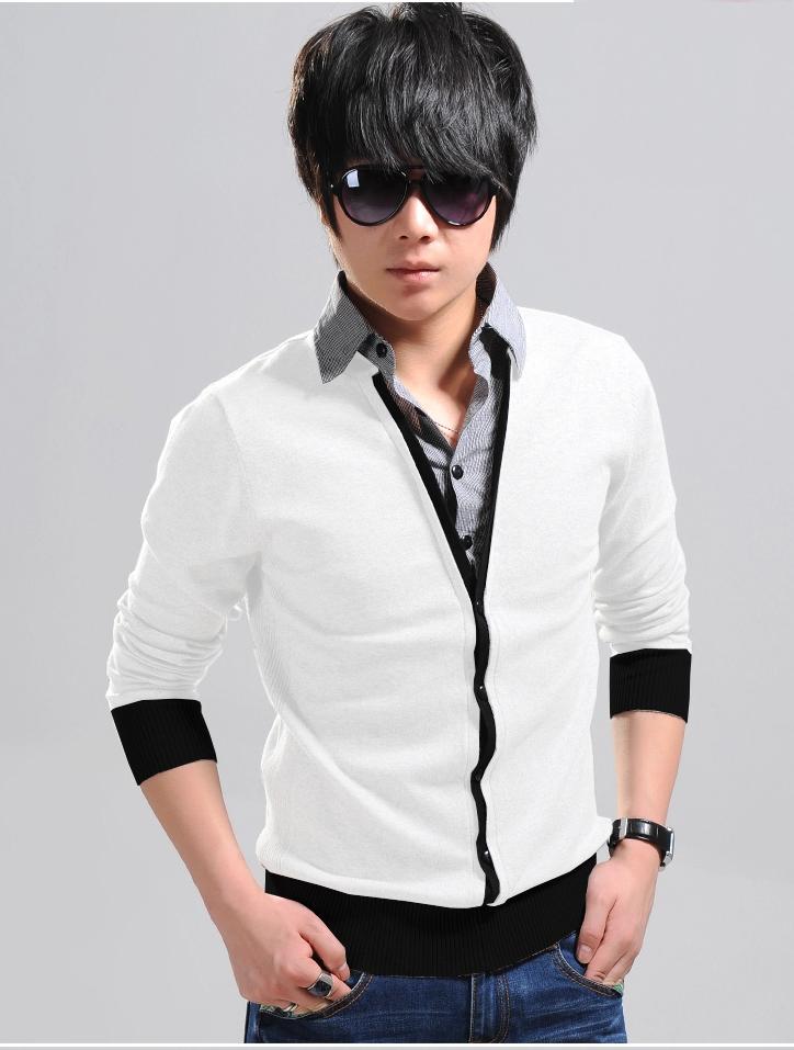 Áo khoác cardigan trắng ac077 - 1