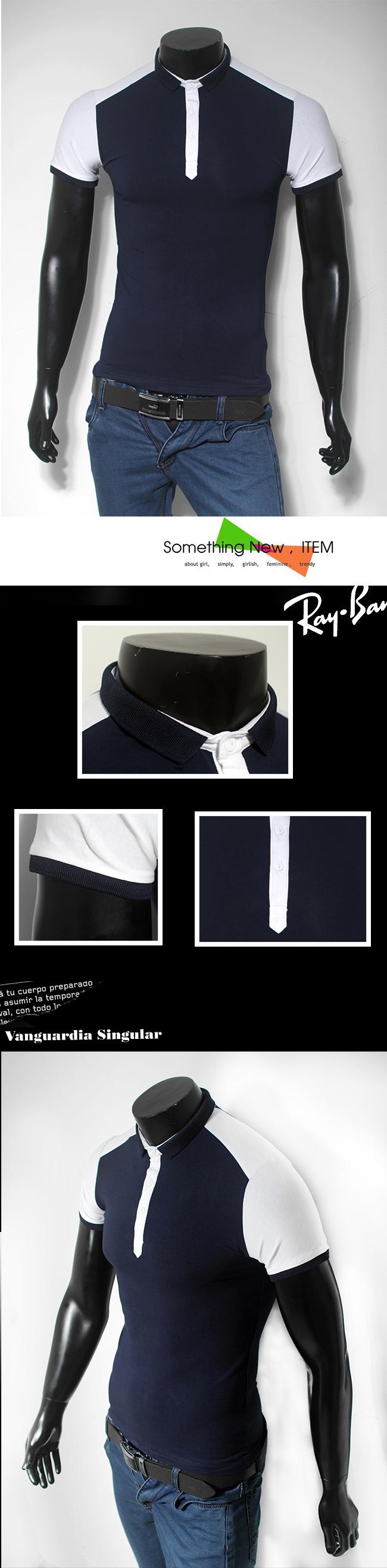 Áo thun cao cấp xanh đen at499 - 1