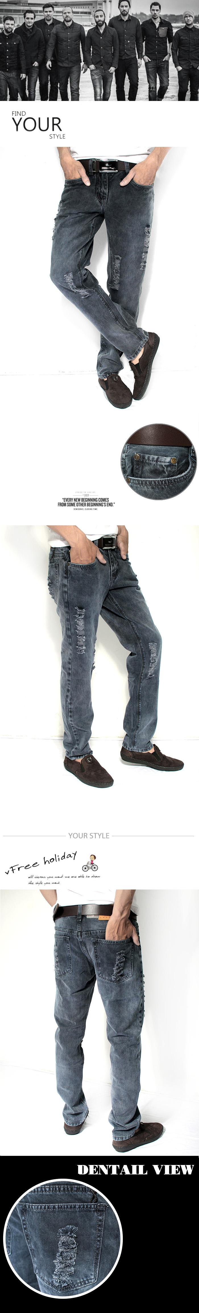 Quần jean rách xanh đen qj1178 - 1