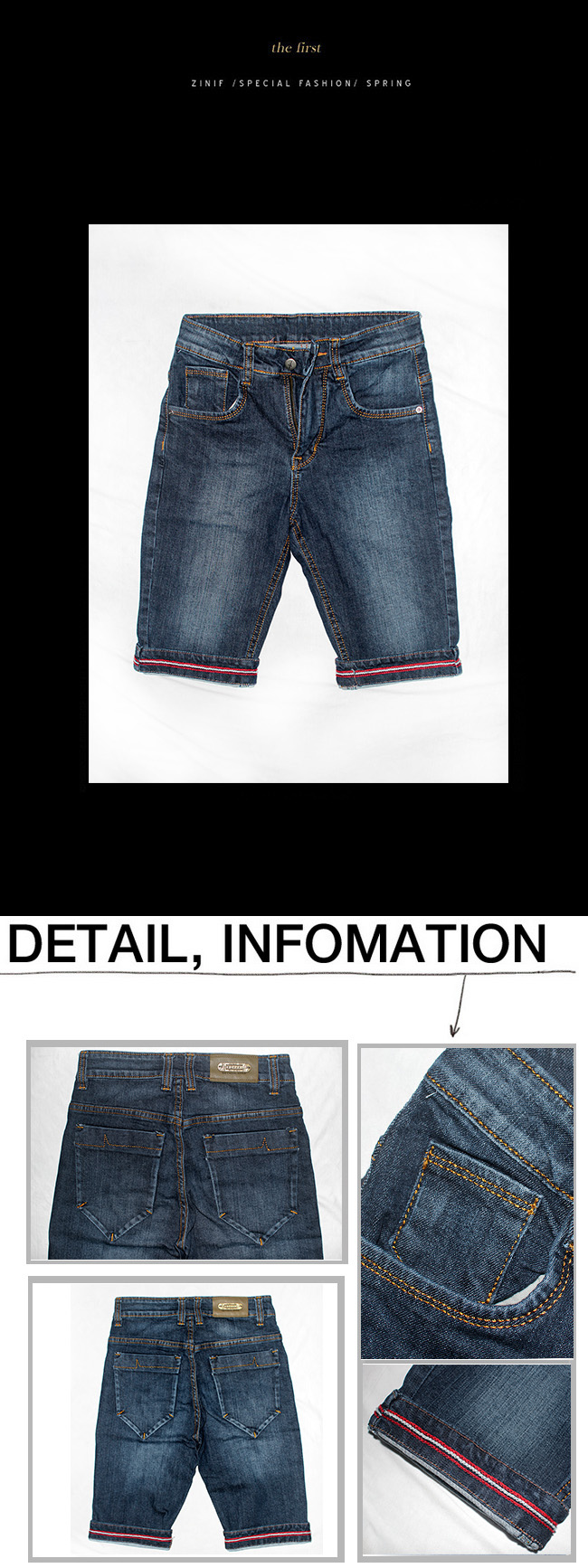 Quan Short Jeans Xanh Den QS17