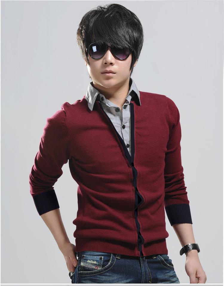 Áo khoác cardigan đỏ đô ac080 - 1
