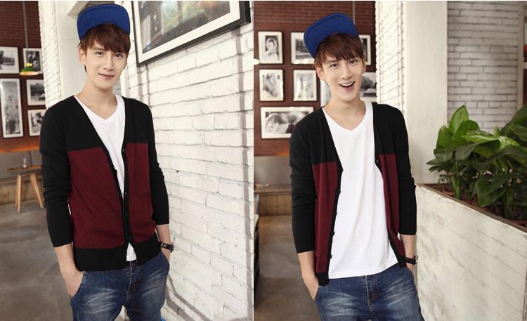 Áo khoác cardigan đỏ đô ac081 - 1