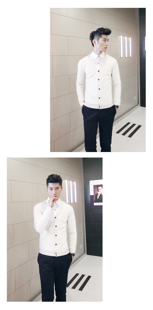 Áo khoác cardigan trắng ac078 - 1