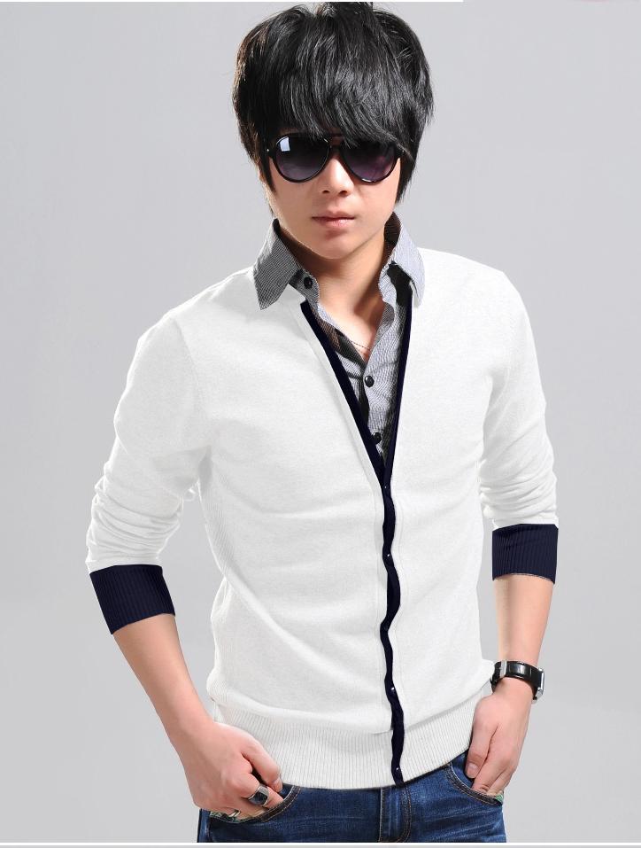 Áo khoác cardigan trắng ac080 - 1