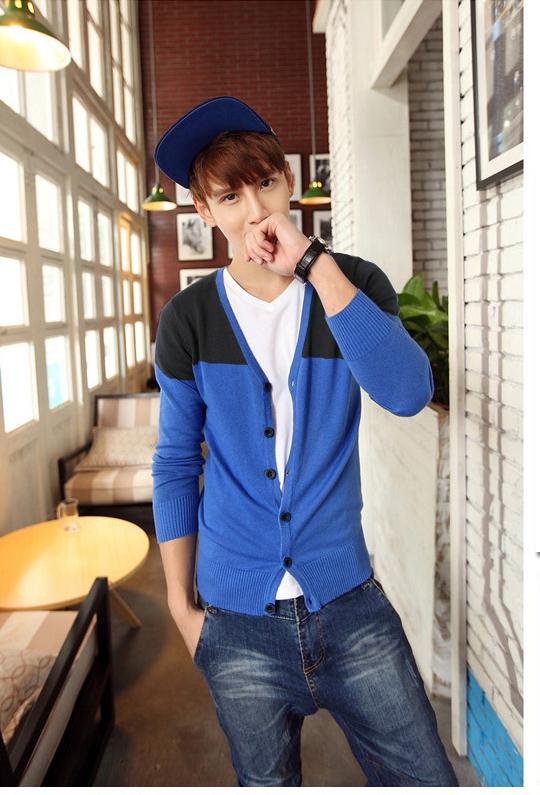 Áo khoác cardigan xanh bích ac079 - 1