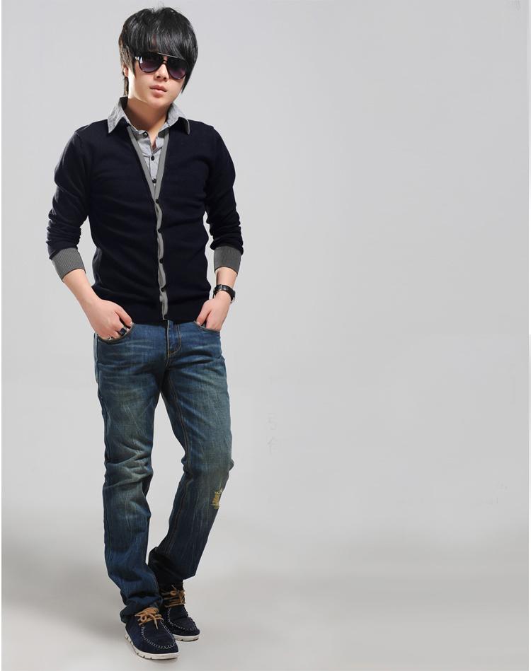 Áo khoác cardigan xanh đen ac080 - 1