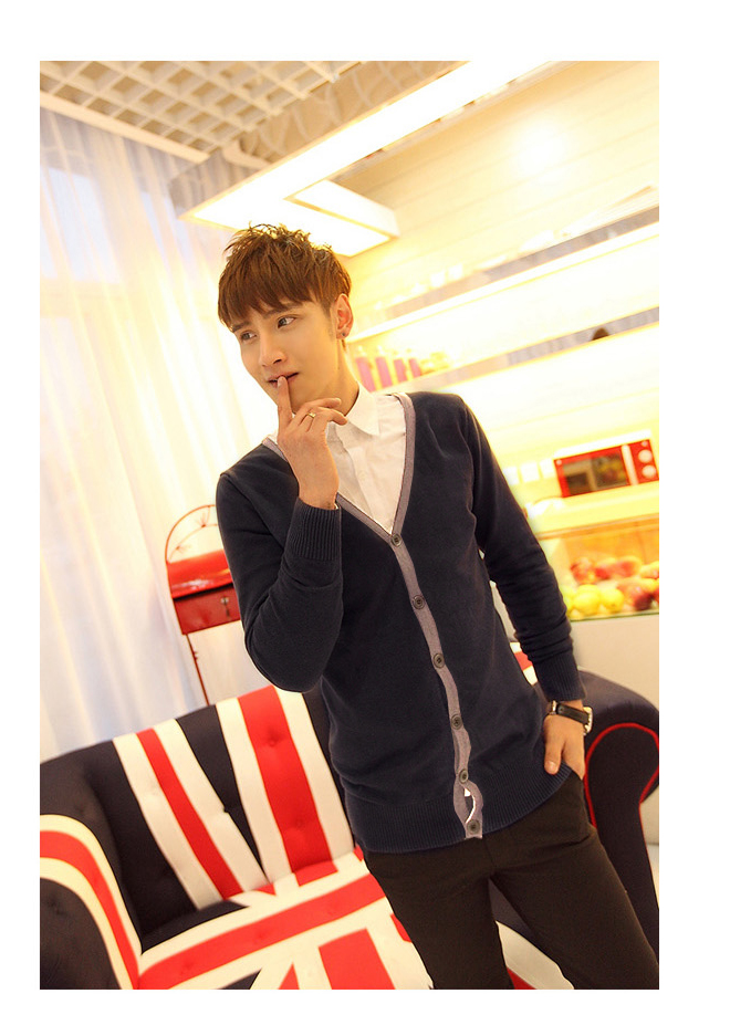 Áo khoác cardigan xanh đen ac082 - 1