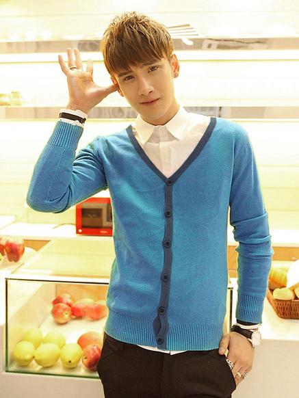 Áo khoác cardigan xanh ya ac082 - 1