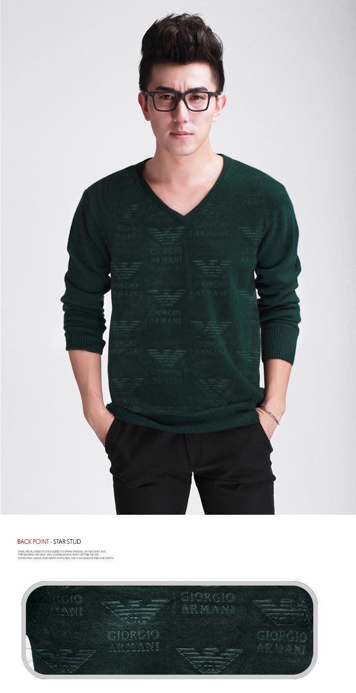Áo len armani xanh rêu al03 - 1