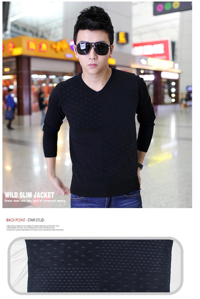 Áo len xanh đen al01 - 1
