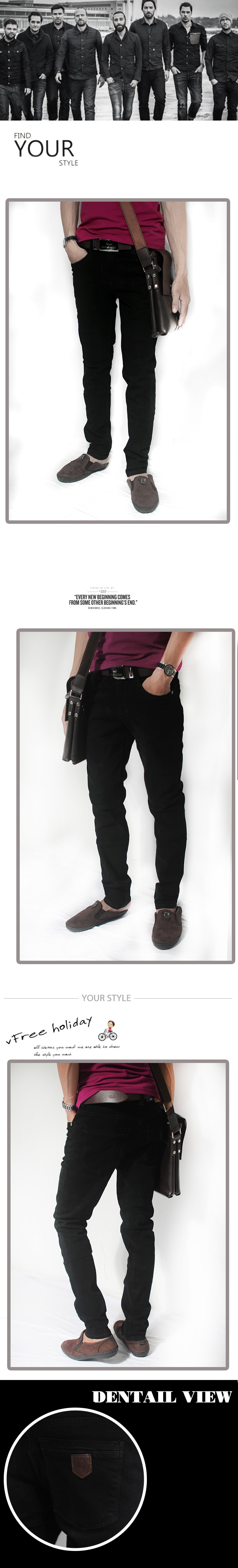 Quần jean đen qj1186 - 1