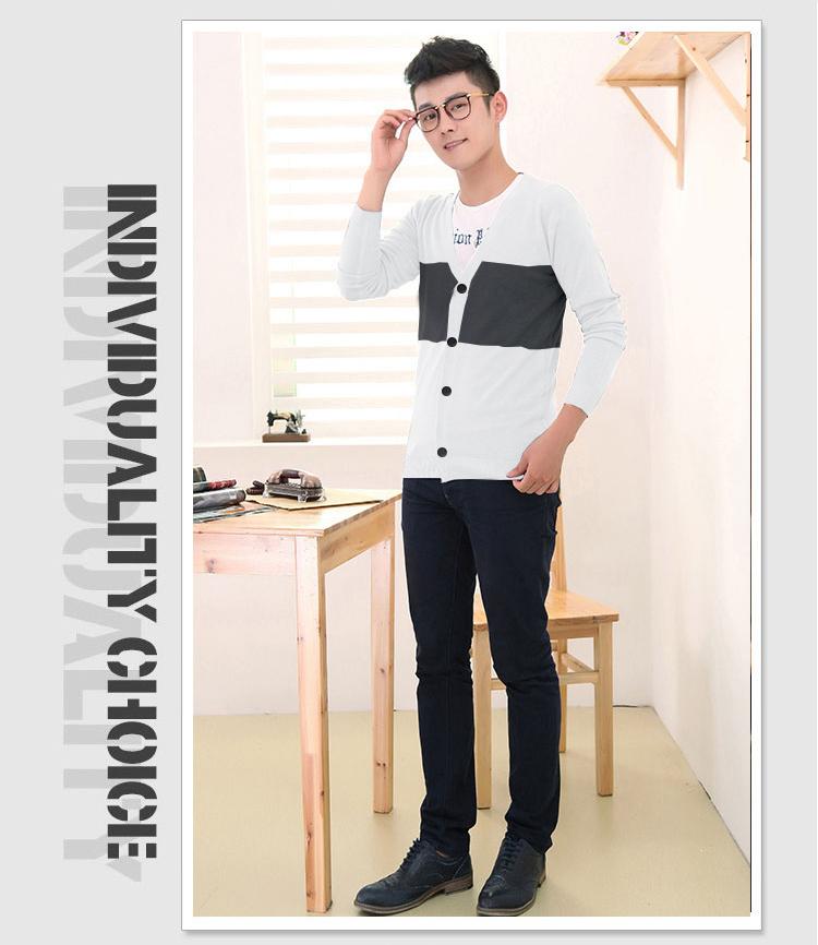 Áo khoác cardigan trắng ac083 - 1