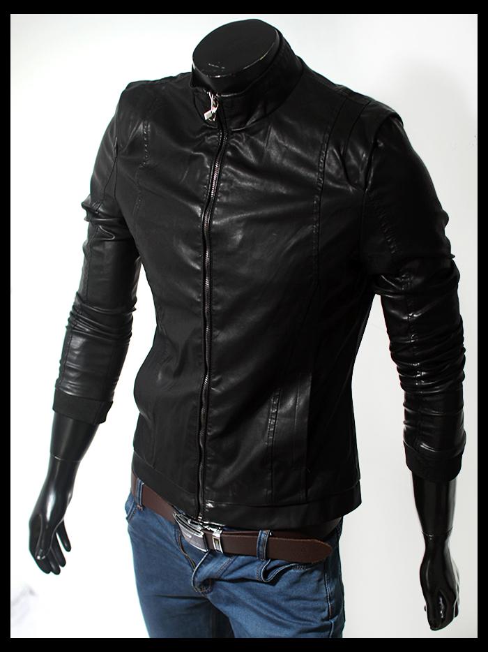 Áo khoác da đen ak107 - 1