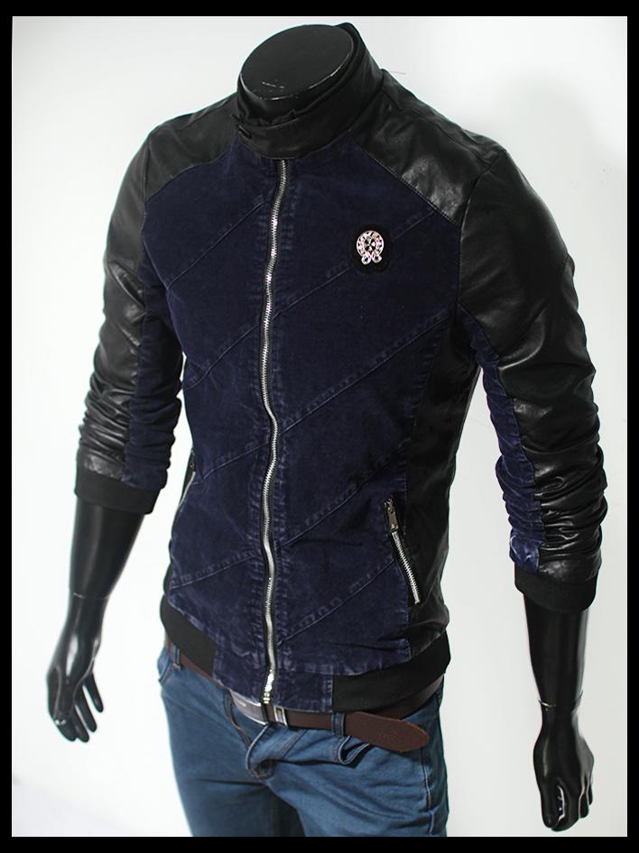 Áo khoác da đen ak108 - 1