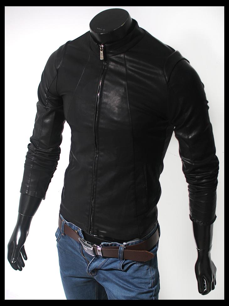 Áo khoác da đen ak109 - 1