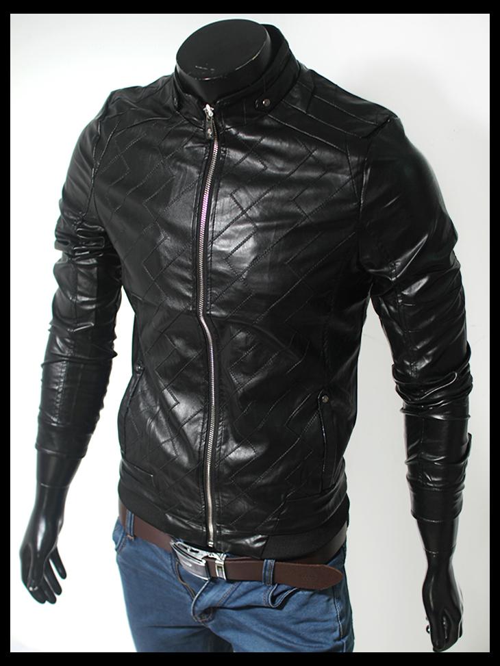 Áo khoác da đen ak110 - 1