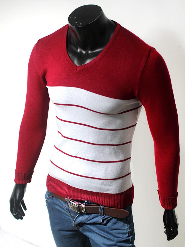 Áo len cổ tim đỏ đô al35 - 1