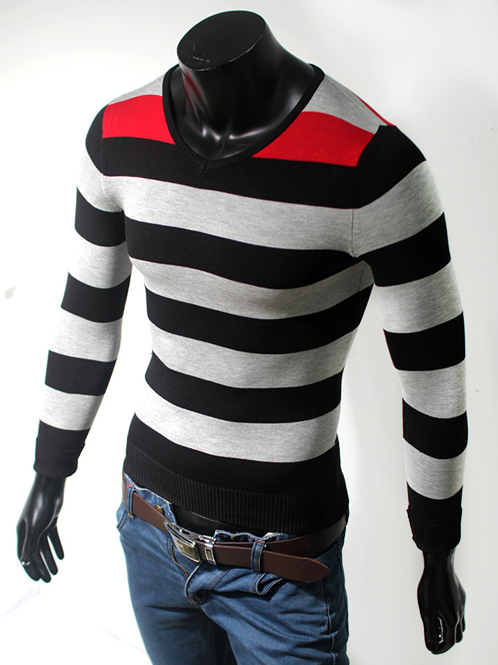 Áo len cổ tim đen al32 - 1