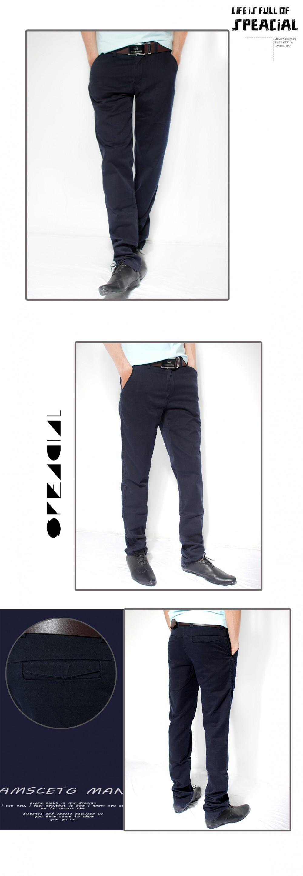 Quần kaki hàn quốc xanh đen qk112 - 1