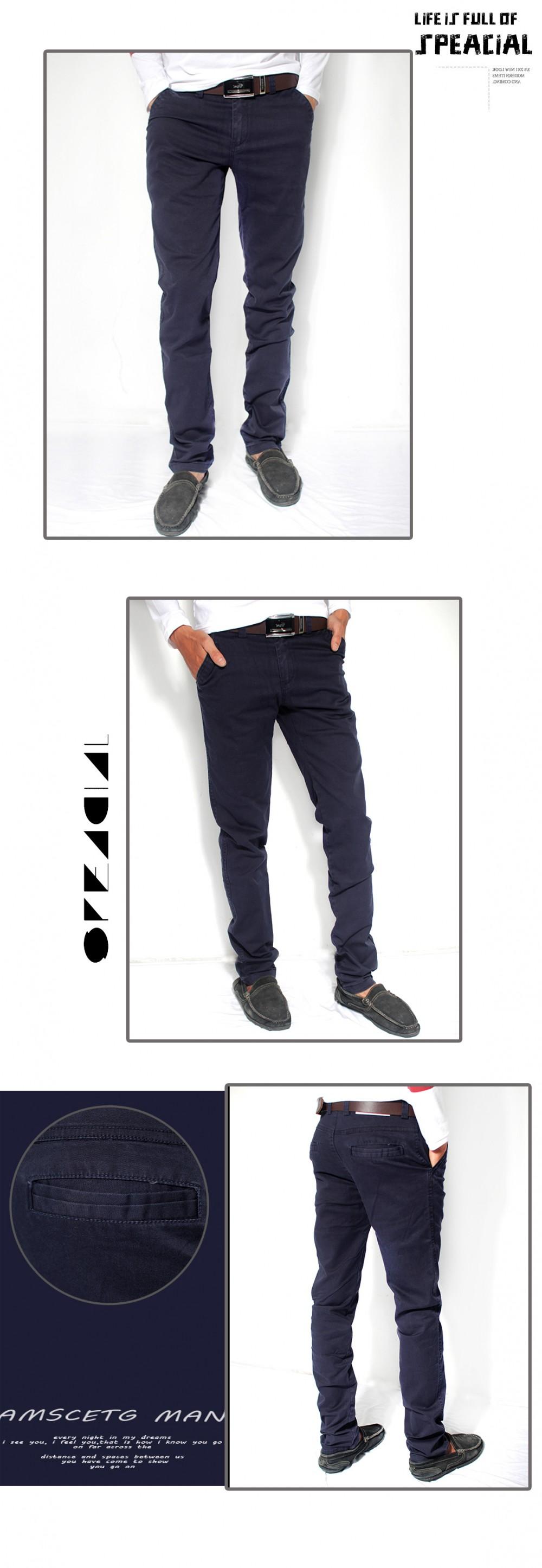 Quần kaki hàn quốc xanh đen qk111 - 1