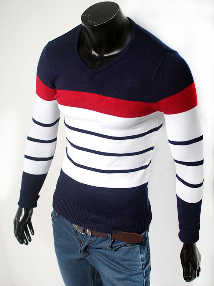 Áo len cổ tim xanh đen al50 - 1