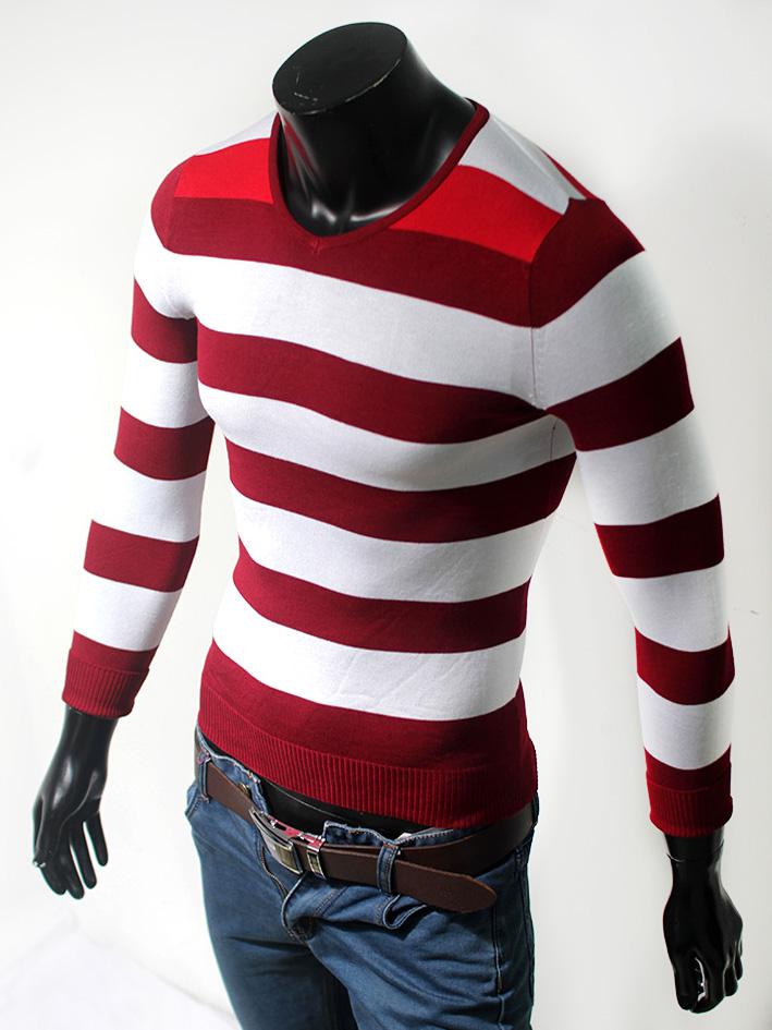 Áo len cổ tim đỏ đô al57 - 1