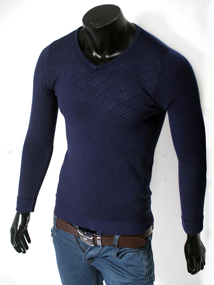 Áo len cổ tim xanh đen al37 - 1