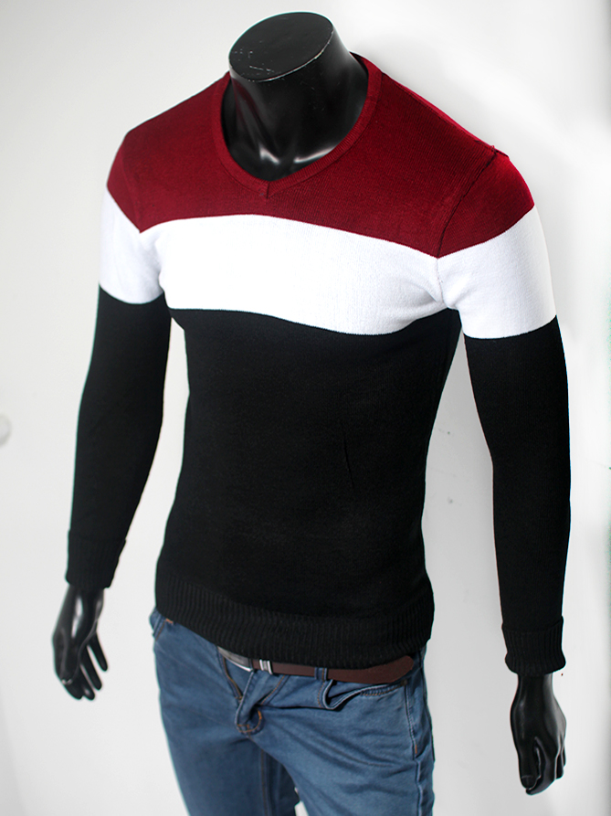 Áo len cổ tim đen al45 - 1
