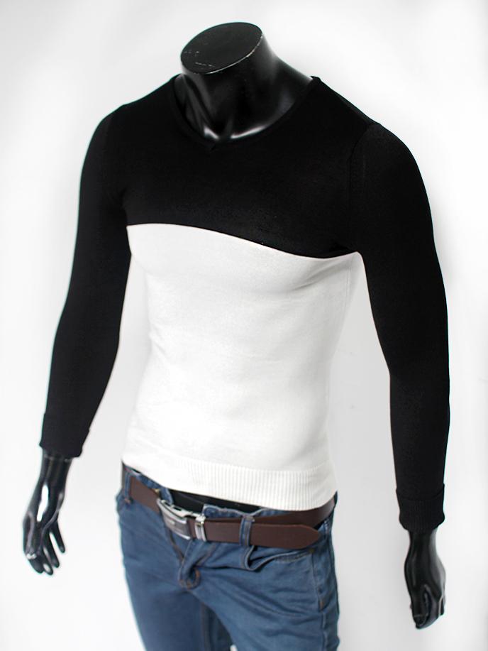 Áo len cổ tim trắng al60 - 1