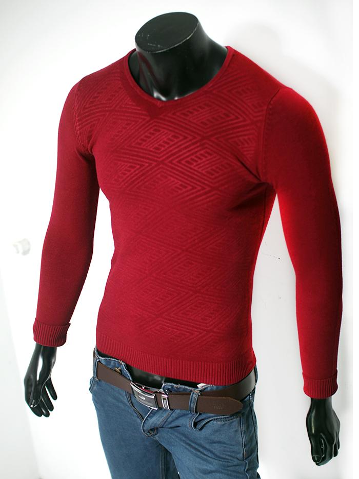 Áo len cổ tim đỏ đô al37 - 1