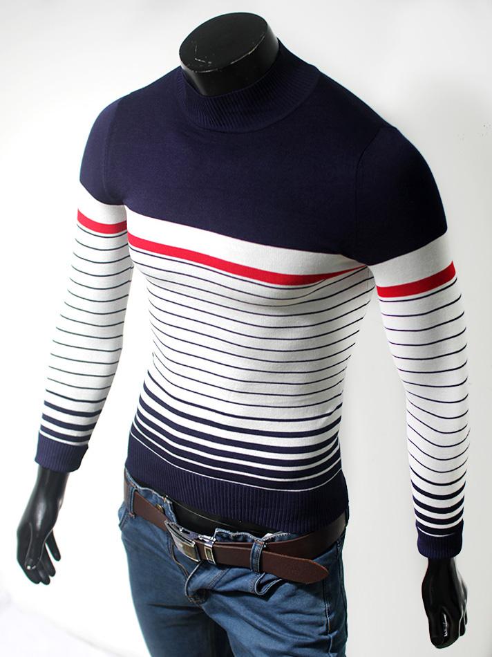 Áo len cổ tròn xanh đen al56 - 1